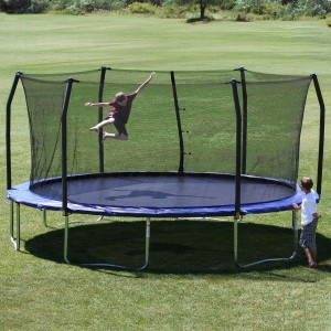 children's trampoline outdoors